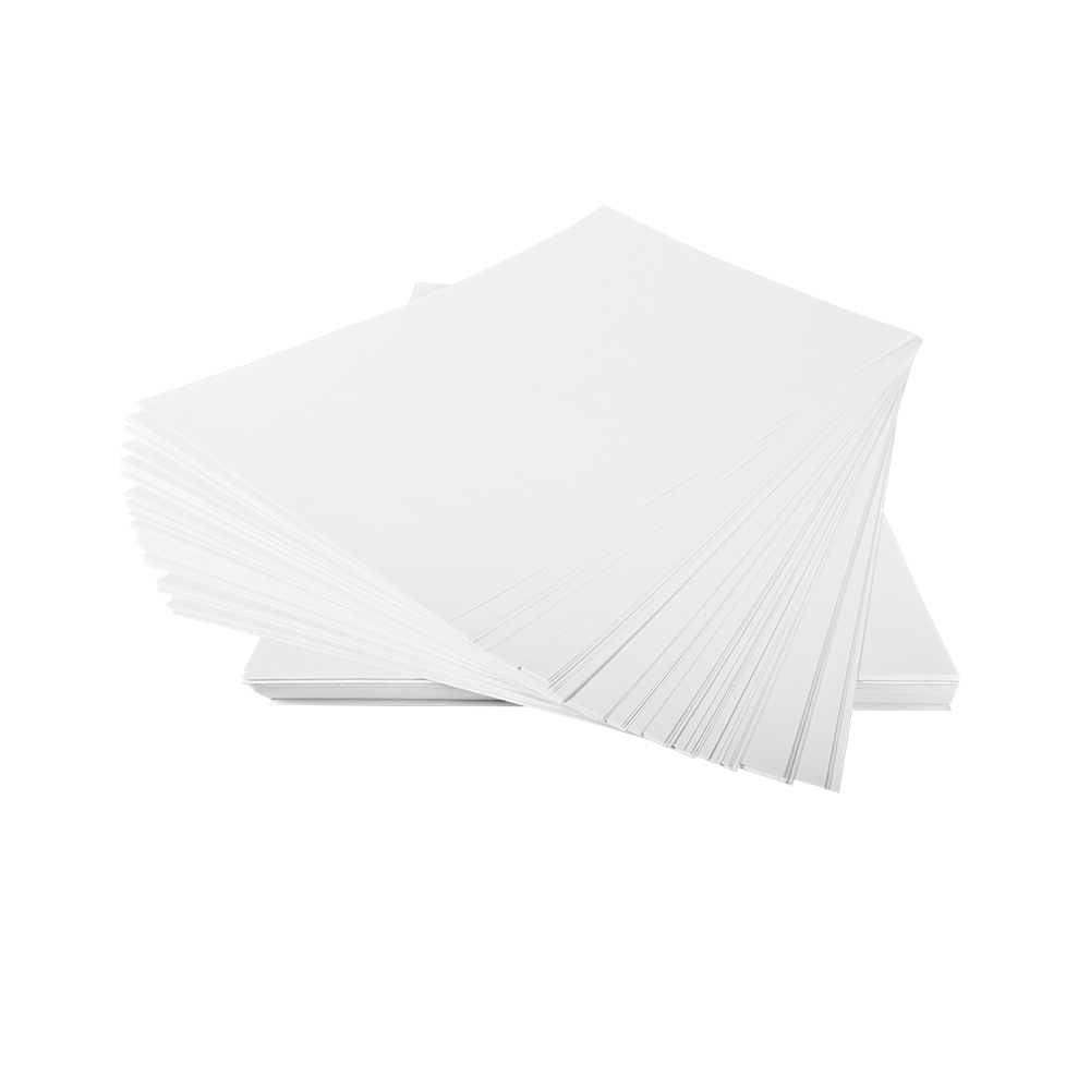 Sheets of white paper in a stack