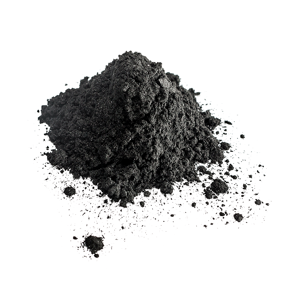 Small pile of black charcoal